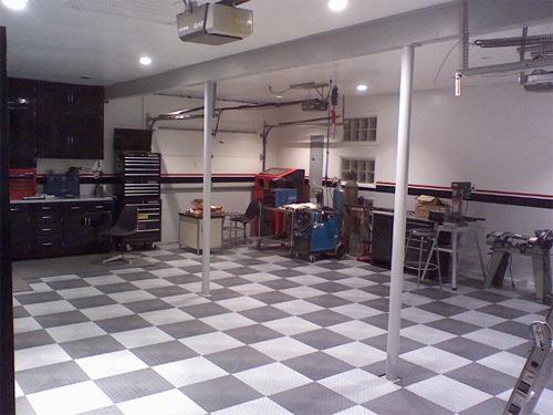 checkered floors garage