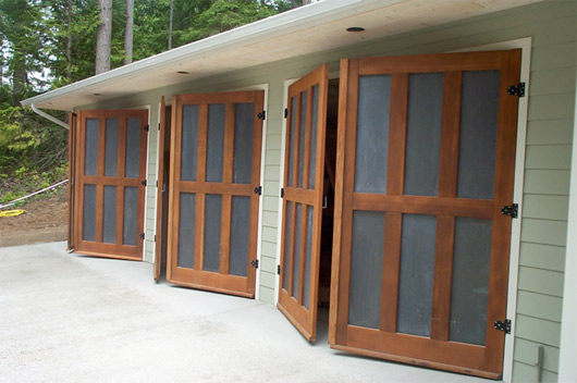 We are often asked about carriage house doors. The great thing about swinging doors is that you don\u0027t sacrifice any ceiling height with clumsy closers and ... & Carriage House Doors - The Garage Journal Board