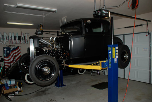 2 post car lift low ceiling  The MaxJax Portable 2-Post Lift - The Garage Journal Board
