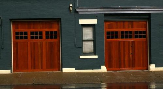 I Stumbled On These Garage Doors And Thought They Were Interesting.  Essentially, They Implement A Man Door In A Working/traditional Garage Door.