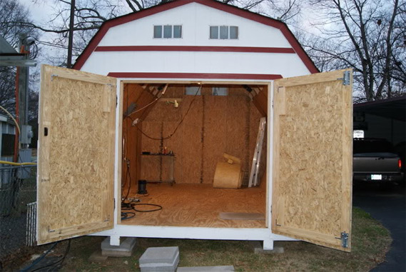 The Garage Journal » Blog Archive » Storage Shed Conversion
